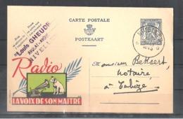 """EP Belgique Publibel 537 """" Radio La Voix De Son Maitre """" - Nivelles 1943 - Entiers Postaux"""