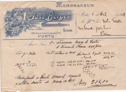 PORTUGAL COMMERCIAL DOCUMENT - PORTO - JOSÉ BORGES - Portugal