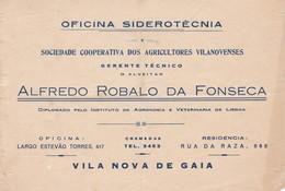 PORTUGAL COMMERCIAL DOCUMENT - VILA NOVA DE GAIA - OFICINA SIDEROTECNICA - Portugal