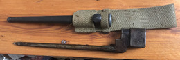 Baïonnette GB Clou N°4MKII De Fabrication US Et PF - Knives/Swords