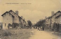 89 - Yonne - Laroche-Migennes - Avenue Des Tilleuls Animée - Carte Toilée Colorisée - France