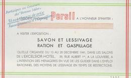 Persil. Savon Et Lessivage. Excelsior-Hotel. La Louvière. - Publicités