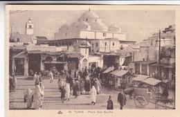 TUNIS. PLACE BAB SOUIKA. CAP. CIRCA 1920s NON CIRCULEE - BLEUP - Tunesië