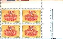 74860) ITALIA-QUARTINA-Centenario Della Legge Organica Del Notariato - 25 Luglio 1975  -MNH** - 6. 1946-.. Repubblica