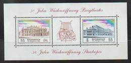 H 116) Österreich 2005 Mi# 2555-2556 Block 30 **: 50 Jahre Wiedereröffnung Burgtheater - 2001-10 Ungebraucht