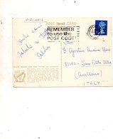 1973  CARTOLINA CON ANNULLO KENSINGTON + TARGHETTA - 1952-.... (Elisabetta II)