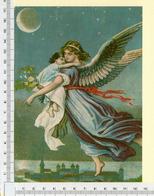 CHROMO LITHO..GRAND FORMAT...H  17 Cm    L'ANGE DE LA NUIT - Vieux Papiers