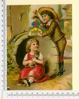 CHROMO LITHO..GRAND FORMAT...H  17 Cm   JEUX D'ENFANTS - Vieux Papiers