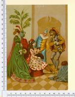 CHROMO LITHO..GRAND FORMAT...H  18 Cm   SCÈNE DE CARNAVAL - Vieux Papiers