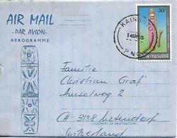 PAPUA NEW GUINEA 1985 AEROGRAMME Posted 1 Stamp COVER USED - Papúa Nueva Guinea