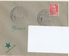 25/5/1950 - Enveloppe  Esperanto - Foire De Paris - Philatélie - Pour Elbeuf - Yvert Et Tellier N° 813 - Esperanto
