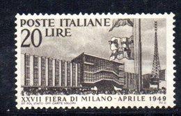 W1693 - REPUBBLICA 1949 , Milano N. 598  **  MNH Piega - 1946-60: Mint/hinged