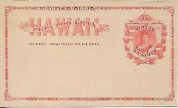 HAWAII 1881 PC COVER UNUSED - Hawaï