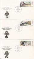 PARQUES NACIONALES ARGENTINOS I-FDC 1987 BUENOS AIRES, L'ARGENTINE. CARD LOTE X 5- BLEUP - Milieubescherming & Klimaat