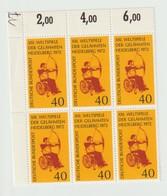 Sport 839) BRD 1972 Mi# 733 (6er Block) **: Weltspiele Der Gelähmten Paralympics, Bogenschießen - Handisport