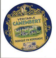 ETIQUETTE FROMAGE CAMEMBERT De  NORMANDIE - 23 AOUT 1939 - - Quesos