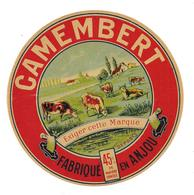 ETIQUETTE FROMAGE CAMEMBERT ANJOU -15 NOV. 1937 - - Cheese