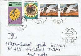 Congo 1987 Sibiti Children Game Tree Planting President Sassou Peace Cover - Games