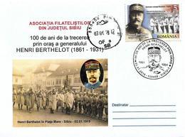 2019 - HENRI BERTHELOT - 100 YEARS FROM THE VISIT OF HENRI BERTHELOT IN SIBIU In JANUARY 1919 - Maximumkarten (MC)