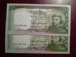 20 Escudos  26.05.1960  - 2 Notas - Portugal