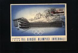 Italy 1956 Olympic Games Cortina D'Ampezzo Interesting Maximumcard - Invierno 1956: Cortina D'Ampezzo