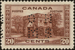Canada Scott #O243, 1938, Hinged - Perforés