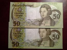50 Escudos  01.02.1980 - 2 Notas - Portugal
