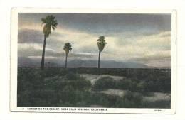 Cp, Etats-Unis, Near Palm Springs, Sunset On The Desert - Palm Springs