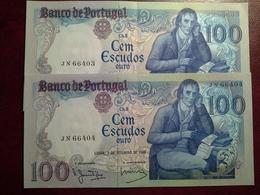 100 Escudos  02.09.1980 - 2 Notas - Portugal
