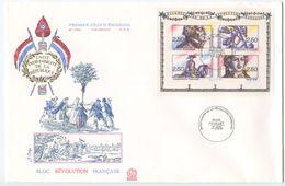 France 1991 FDC Scott 2259 S/S French Revolution Bicentennial - FDC