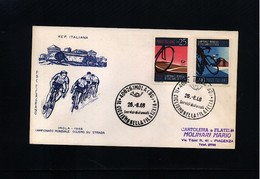 Italy / Italien 1968 World Cycling Championship Interesting Cover - Ciclismo
