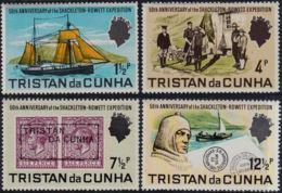 A0078 TRISTAN DA CUNHA 1971, SG 149-52  50th Anniv Shackleton-Rowett Expedition, MNH - Tristan Da Cunha