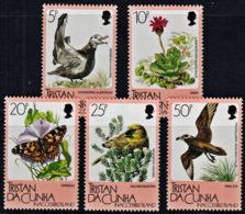 A0111 TRISTAN DA CUNHA 1986, SG 417-21  Flora And Fauna Of Impossible Island, Birds Butterfly, Flower, MNH - Tristan Da Cunha