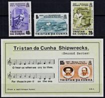 A5193 TRISTAN DA CUNHA 1986, SG 411-MS414 Shipwrecks (2nd Series), MNH - Tristan Da Cunha