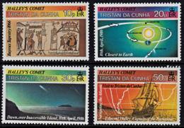A5424 TRISTAN DA CUNHA 1986, SG 402-5  Halley's Comet, MNH - Tristan Da Cunha