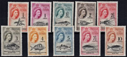 C0133 TRISTAN DA CUNHA 1961, SG 42-51 South African Currency Definitives (part Set), MNH - Tristan Da Cunha
