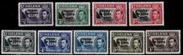 F0131 TRISTAN DA CUNHA 1952, SG 1-9 St Helena Overprints, To 1s, MNH - Tristan Da Cunha