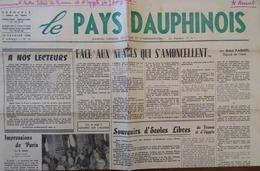 A LA DÉCOUVERTE DE CREMIEU (ISÈRE) Article Dans LE PAYS DAUPHINOIS Du 15 Février 1956, Mensuel Politique - Other