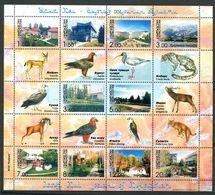 241 KIRGHIZSTAN 2003 - Yvert 250/59 + Vignette Oiseau - Vilegiature Maison Lac - Neuf ** (MNH) Sans Charniere - Kirghizistan