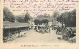 60 PONT SAINTE MAXENCE Le Marché Place Aux Toiles CPA Ed. Imp. Morieu Cachet OR (origine Rurale) - Pont Sainte Maxence