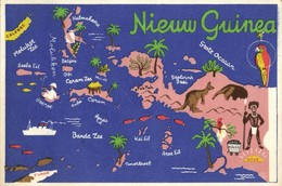 Indonesia, DUTCH NEW GUINEA, Moluccas, Kangaroo Coal Gold Parrot (1940s) - Papoea-Nieuw-Guinea