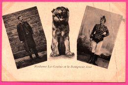 Madame La Goulue Et Le Dompteur José - Cirque - Lion - Cravache - Circo