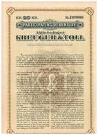 Action Ancienne - Lot De 3 Titres Participating Debenture  Aktiebolaget Kreuger & Toll - Titres De 1928 - Industrie