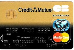 -CARTE+-PUCE-MAGNETIQUE-CB-CREDIT MUTUEL -MASTERCARD-10/96-Gemplus-Mids-ICA- 1031-12/95-TBE-RARE - France