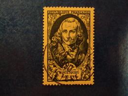 """1949-timbre Oblitéré N° 853     """"   Montesquieu       """"       Cote   4      Net   1.30 - France"""