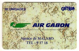 GUINEE EQUATORIALE  REF Mvcards EQG-12 AIR GABON 30U - Equatoriaal Guinea