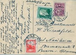 1937 , LETONIA , TARJETA POSTAL CIRCULADA DESDE RIGA - Letonia