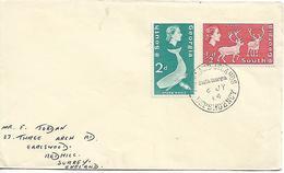 SOUTH GEORGIA 1964 Cover Sent To Surrey 2 Stamps COVER USED - Géorgie Du Sud