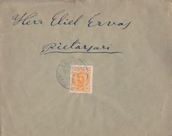 1898 , FINLANDIA , SOBRE CIRCULADO , ALAVUS - PIETARSAARI , LLEGADA AL DORSO , YV. 31 - Briefe U. Dokumente