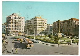 SYRIA/SYRIE - DAMASCUS/DAMAS PLACE MARJE / OLD CARS - AUTOBUS / ADV.BOAC - Siria